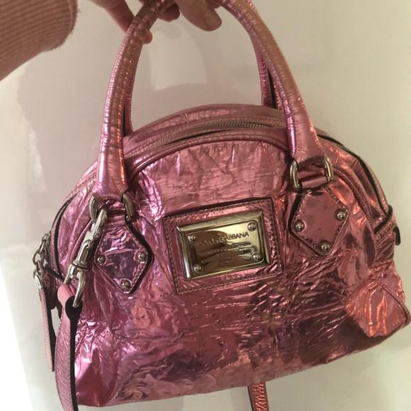 Dolce   Gabbana Bags   Dolce Gabbana Pink Metallic Bag   Poshmark 3ac02ee8d1